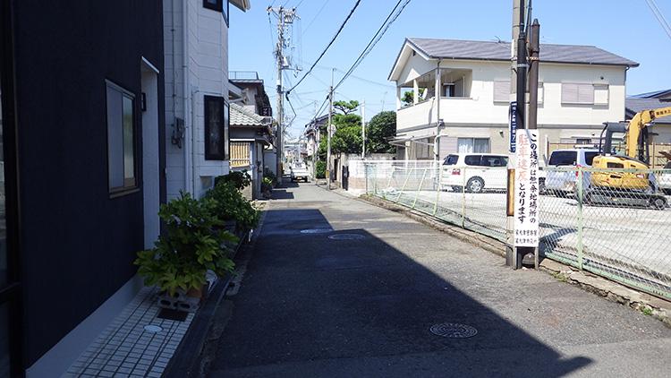 松ノ浜7号線の倒壊建物撤去後