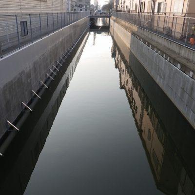 王子川都市下水路矢板改修工事