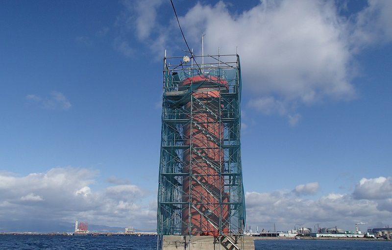 防波堤灯台施設改修工事